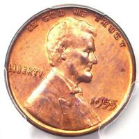 1955 DOUBLED DIE OBVERSE LINCOLN CENT 1C DDO   PCGS UNCIRCULATED DETAIL UNC MS