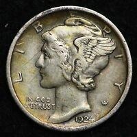 1924 MERCURY DIME CHOICE XF  E254 UE