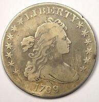 1799 DRAPED BUST SILVER DOLLAR $1   FINE / VF DETAILS    TYPE COIN