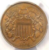 1868 TWO CENT COIN 2C - PCGS AU DETAILS -  CERTIFIED COIN