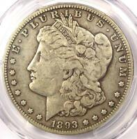 1893-O MORGAN SILVER DOLLAR $1 - PCGS F15 -  CERTIFIED KEY DATE COIN