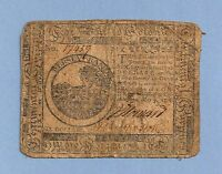 1776 $ 6 MAY 21ST CONTINENTAL CURRENCY AFFORDABLE COLONIAL HISTORY
