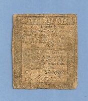 1776 PENNSYLVANIA 3 PENCE COLONIAL CURRENCY FINE