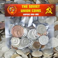 USSR SOVIET RUSSIAN 30 KOPEK COINS 1961 1991 COLD WAR HAMMER AND SICKLE CCCP
