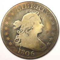 1806 DRAPED BUST QUARTER 25C   VG / FINE DETAILS    EARLY DATE TYPE COIN