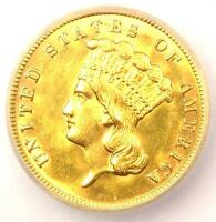 1888 THREE DOLLAR INDIAN GOLD COIN $3   ICG MS60 DETAILS UNC BU    DATE