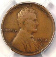 1914 D LINCOLN WHEAT CENT 1C   PCGS VF30 NICE FINE    KEY DATE PENNY