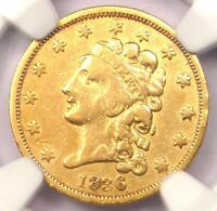 1836 CLASSIC GOLD QUARTER EAGLE $2.50   CERTIFIED NGC VF DETAILS    COIN