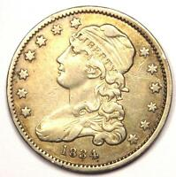1834 CAPPED BUST QUARTER 25C   XF DETAILS    EARLY DATE TYPE COIN
