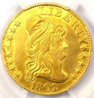 1802/1 CAPPED BUST GOLD HALF EAGLE $5 BD 4 R7   PCGS AU DETAIL    COIN
