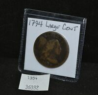 WEST POINT COINS  1794 LARGE CENT FULL DATE FLOWING HAIR