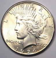 1924 S PEACE SILVER DOLLAR $1   EXCELLENT CONDITION   NICE LUSTER    DATE