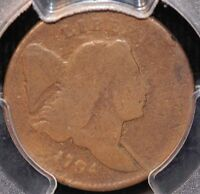 1794 HALF CENT, C-4A SMALL EDGE LETTERS VARIETY, PCGS G6, 3-DAY RETURN