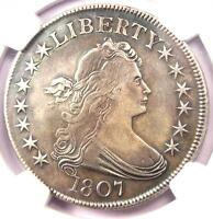1807 DRAPED BUST HALF DOLLAR 50C - NGC EXTRA FINE  DETAIL -  CERTIFIED COIN