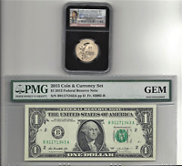2015 US AMERICAN $1 COIN AND CURRENCY SET   CERTIFIED NGC SP69 EARLY RELEASES