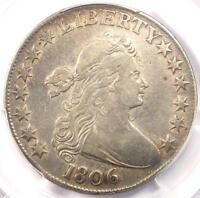 1806 DRAPED BUST HALF DOLLAR 50C - PCGS VF DETAIL -  CERTIFIED COIN