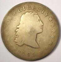1795 FLOWING HAIR BUST SILVER DOLLAR $1 - GOOD DETAILS -  TYPE COIN