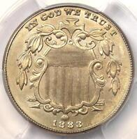 1883 SHIELD NICKEL 5C COIN - CERTIFIED PCGS UNCIRCULATED DETAILS MS BU UNC