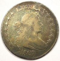 1807 DRAPED BUST HALF DOLLAR 50C - VG DETAILS PLUGGED -  EARLY COIN