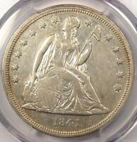 1841 SEATED LIBERTY SILVER DOLLAR $1 - PCGS AU DETAILS -  EARLY DATE COIN
