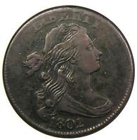 1802 DRAPED BUST LARGE CENT 1C S-230 - ANACS EXTRA FINE  DETAILS / NET VF30 -  COIN