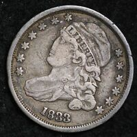 1833 CAPPED BUST DIME CHOICE FINE SHIPS FREE E275 ANM