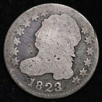 1823/2 CAPPED BUST DIME CHOICE SHIPS FREE E272 ANT