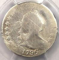 1796 DRAPED BUST DIME 10C - CERTIFIED PCGS AG DETAILS - FIRST DIME EVER MINTED