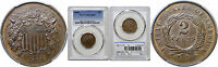 1868 TWO CENT PIECE PCGS MINT STATE 63 BN