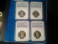 2012-S PROOF  PRESIDENTIAL DOLLARS FOUR COIN SET. NGC PF69 ULTRA CAMEO.