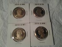 2013-S PROOF MCKINLEY, ROOSEVELT, TAFT AND WILSON PRESIDENTIAL DOLLARS