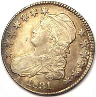 1831 CAPPED BUST HALF DOLLAR 50C - SHARP DETAILS -  COIN -  LUSTER