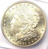 1884-S MORGAN SILVER DOLLAR $1 - CERTIFIED ICG MINT STATE 61 BU UNC - $12,940 VALUE
