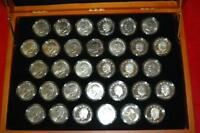 1971-1978 FIRST COMMEMORATIVE MINT EISENHOWER DOLLAR SET BOX & COA