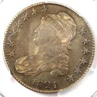 1821 CAPPED BUST HALF DOLLAR 50C - PCGS EXTRA FINE 40 EF40 PQ -  CERTIFIED COIN