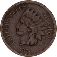 1873 INDIAN HEAD CENT CLOSED 3  GOOD PENNY VG