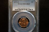 1971 S 1C RD LINCOLN CENT PCGS MS64RD