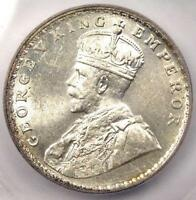 1919-B INDIA RUPEE KM-524 - ICG MINT STATE 62 -  CERTIFIED BU UNC COIN