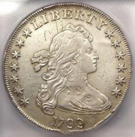 1799 DRAPED BUST SILVER DOLLAR $1. CERTIFIED ICG EXTRA FINE 40 DETAILS EF40 -  COIN