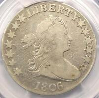 1806/5 DRAPED BUST HALF DOLLAR 50C O-101 - PCGS FINE DETAILS -  OVERDATE