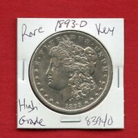 1893 O MORGAN SILVER DOLLAR 83940 HIGH GRADE COIN US MINT  KEY DATE ESTATE