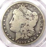 1893-O MORGAN SILVER DOLLAR $1 - PCGS G6 -  CERTIFIED KEY DATE COIN