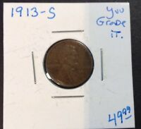1913-S 1C BN LINCOLN CENT