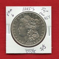 1885 S VAM-6 TOP 100 MORGAN SILVER DOLLAR 84588 HIGH GRADE MINT  KEY ESTATE
