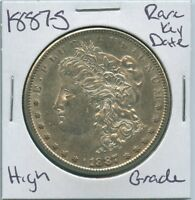 1887-S MORGAN DOLLAR  KEY DATE US MINT SILVER COIN HIGH GRADE