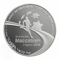 THE 19TH MACCABIAH MEDAL 2013 SILVER MEDALS COLLECTIBLE GIFT COMMEMORATIVE