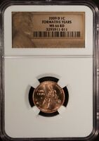 US 2009 D LINCOLN 1 CENT   NGC MS 66 RD UNC FORMATIVE YEARS