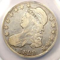 1829/7 CAPPED BUST HALF DOLLAR 50C   CERTIFIED ANACS VF30 DETAIL    OVERDATE