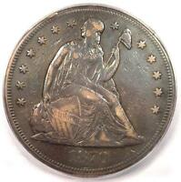 1870 CC SEATED LIBERTY SILVER DOLLAR $1   ICG VF20    CARSON CITY COIN