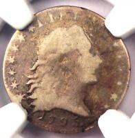 1795 FLOWING HAIR HALF DIME H10C LM-10 - NGC VG DETAILS -  CERTIFIED COIN